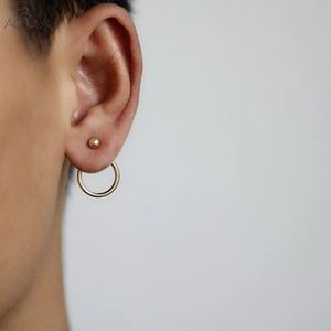 Jewelry - Minimalist circle stud earrings ear jacket